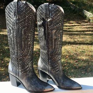 Frye Faye stud pull on western boots $545